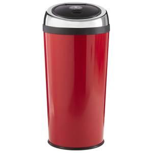 Red Enamel Touch Top Bin - 30L