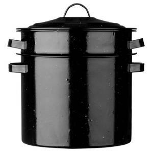 Pasta Pot - Black Speckled Enamel