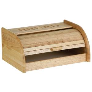 Rubberwood White Base Bread Bin