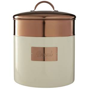 Prescott Bread Bin - Cream & Copper