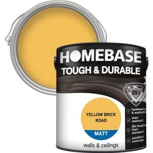 Homebase Tough & Durable Matt Paint - Yellow Brick Road 2.5L