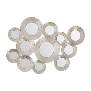 Marcia Hammered Silver Wall Mirror