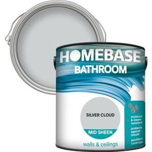 Homebase Bathroom Mid Sheen Paint - Silver Cloud 2.5L