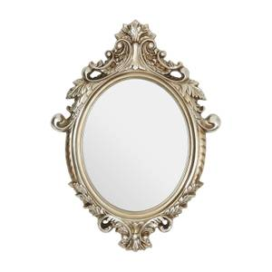 Champagne Garland Oval Wall Mirror