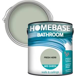Homebase Bathroom Mid Sheen Paint - Fresh Herb 2.5L