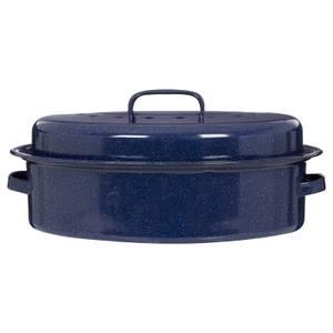 Oval Self Basting Roaster - Blue Enamel
