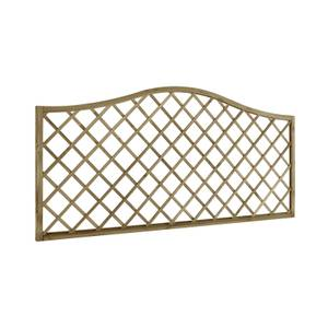 6ft x 3ft (1.8m x 0.9m) Pressure Treated Decorative Europa Hamburg Garden Screen - Pack of 4