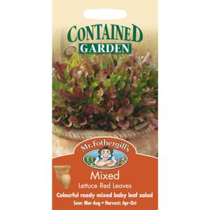 Mr. Fothergill's Mixed Lettuce Red Leaves (Lactuca Sativa) Seeds
