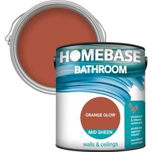 Homebase Bathroom Mid Sheen Paint - Orange Glow 2.5L