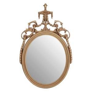 Oval Acanthus Leaf Wall Mirror - Gold