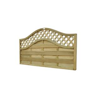 1.8m x 0.9m Pressure Treated Decorative Europa Prague Fence Panel - Pack of 5