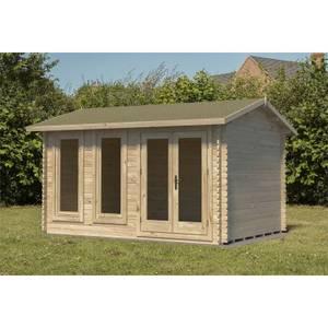 Chiltern 4.0m x 3.0m Log Cabin Single Glazed 24kg Felt, No Underlay