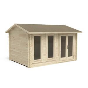 Chiltern 4.0m x 3.0m Log Cabin Double Glazed 34kg Felt, Plus Underlay