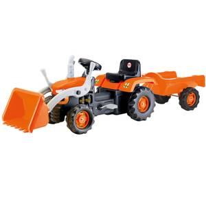 Dolu Ride On Tractor Trailer Excavator Orange