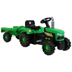 Dolu Ride On Tractor With Trailer Green