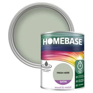 Homebase Interior Quick Dry Satin Paint - Fresh Herb 750ml