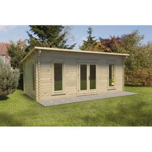 Forest Arley 6.0m x 3.0m Cabin Double Glazed 24kg Polyester Felt, No Underlay