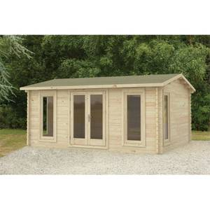 Forest Rushock 5.0m x 4.0m Log Cabin Double Glazed, Felt Shingles, Plus Underlay