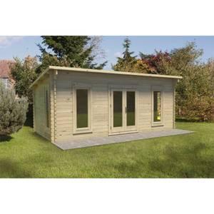 Forest Arley 6.0m x 3.0m Cabin Double Glazed 34kg Polyester Felt, Plus Underlay