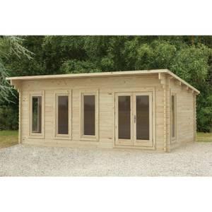 Forest Wolverley 6.0m x 4.0m Log Cabin Double Glazed 24kg Polyester Felt, No Underlay