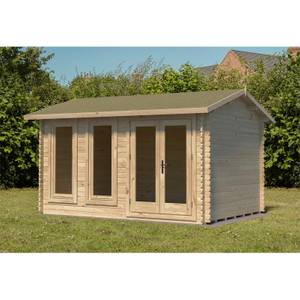 Chiltern 4m x 3m Log Cabin Single Glazed 24kg Felt, No Underlay - Installed
