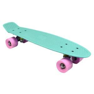 Charles Bentley 22 Retro Mini Plastic Skateboard Aqua