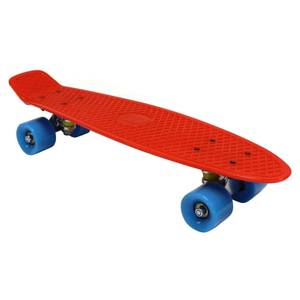 Charles Bentley 22 Retro Mini Plastic Skateboard Red