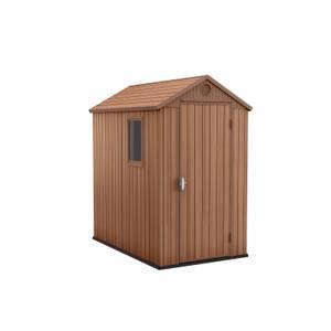 Keter Darwin 6 x 4ft Outdoor Plastic Garden Storage Shed  Brown