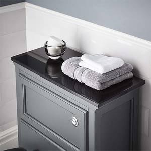 Bathstore Savoy Toilet Worktop - Black Granite Marble