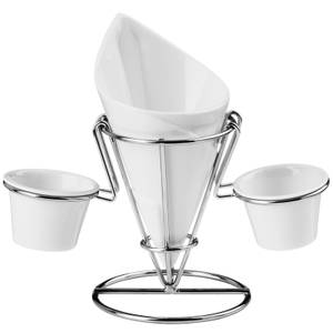 Hollywood French Fry Cone with Silver Stand
