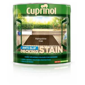 Cuprinol Anti Slip Decking Stain - Hampshire Oak - 2.5L
