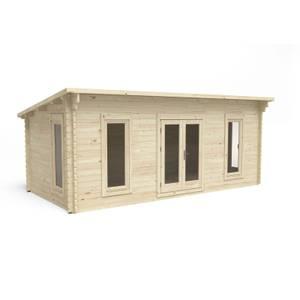 Forest Arley 6.0m x 3.0m Cabin Double Glazed 24kg Polyester Felt, Plus Underlay