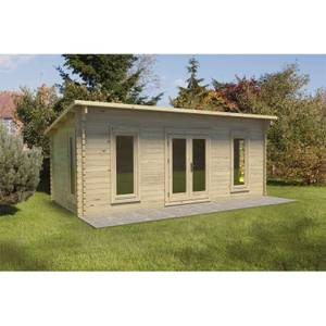 Arley 6m x 3m Cabin Double Glazed 34kg Polyester Felt, Plus Underlay - Installed