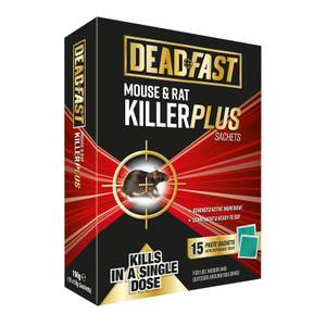 Deadfast Mouse and Rat Killer Plus 15 Sachets