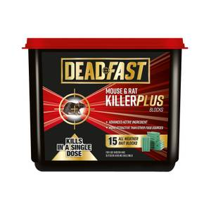 Deadfast Mouse and Rat Killer Plus 15 Block