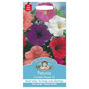 Mr. Fothergill's Petunia Confetti Mixed F2 Seeds