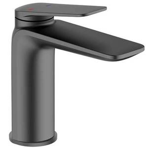 Bathstore Aero Basin Mixer Tap - Matt Black