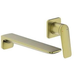 Aero Wall Mounted Basin Mixer Tap - Brushed Brass