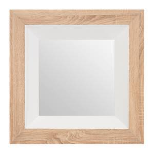White Gloss Wood Wall Mirror
