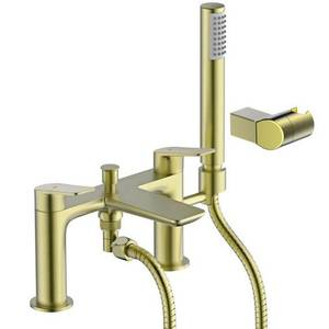 Aero Shower Mixer Tap - Brushed Brass