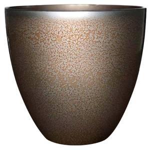 Metallic Glazed Copper Egg Pot - 33cm