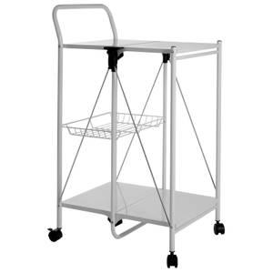 White Rectangular Folding Kitchen Trolley