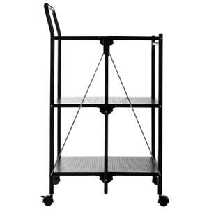 Black Rectangular Folding Kitchen Trolley