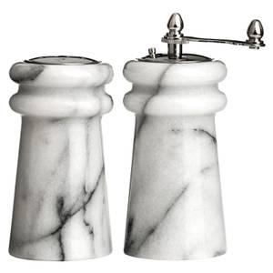 White Marble Salt & Pepper Set - 10.2cm