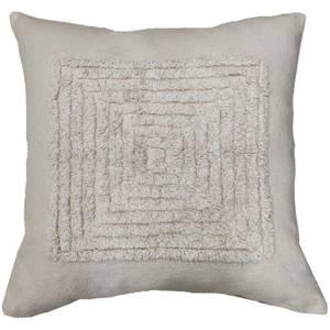 Cream Textured Square Cushion - Cream