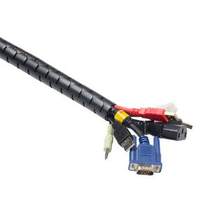 D-Line Cable Zipper - 2.5m Length 25mm diameter, Black