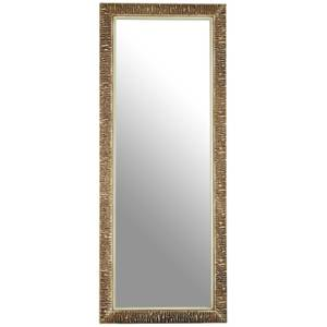 Zelda Champagne Ridged Wall Mirror