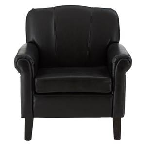 Chesterfield Black Bonded Leather Chair