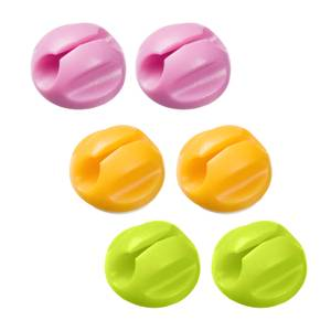 D-Line Cable Tidy Bases - 6pack incl - 2x Pink, 2x Yellow, 2x Green