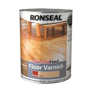 Ronseal Diamond Hard Floor Varnish - Clear Gloss 5L